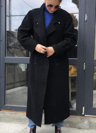 Нереально красивое винтажное пальто оверсайз шерсть кашемир