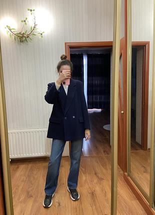 Стильное свободное пальто из шерсти англия!