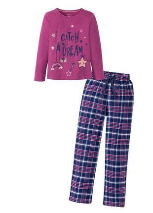 Фланелевая пижама штаны кофта длинный рукав