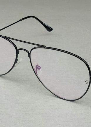 Ray ban aviator 62 очки мужские имиджевые компьютерные оправа для очков черная металлическая