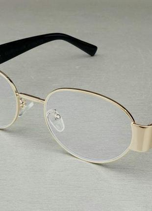 Valentino очки женские имиджевые компьютерные оправа для очков из золотистого металла овальные
