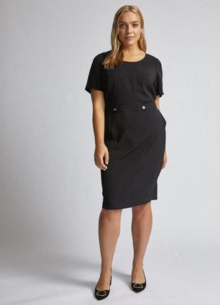 Dorothy perkins платье чёрное новое миди классическое карандаш футляр по фигуре