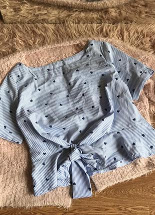 Блуза в сердечко(м)