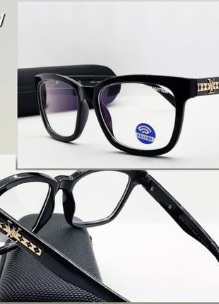 Женские имиджевые компьютерные очки с футляром