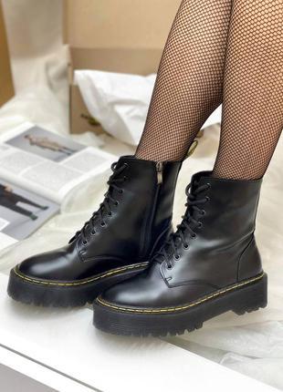 Ботинки dr.martens jadon black кожаные женские