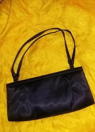 Шикарная текстильная маленькая сумка. на две ручки.