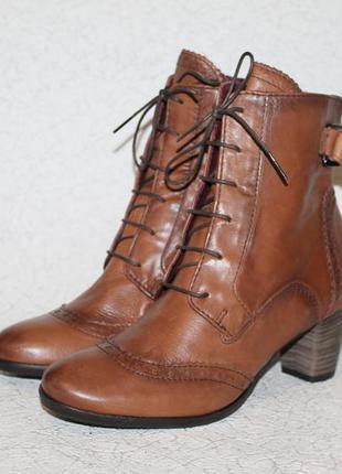 Стильные кожаные ботинки ecco 38 размер 24,5 см  стелька