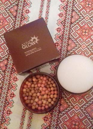 """Пудра-шарики для лица и тела """"бронзирующие жемчужины""""1 фото"""