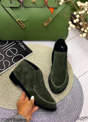 5697 высокие замшевые туфли лоферы в стиле loro piana лоро