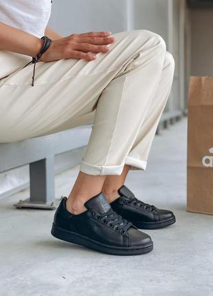 Женские кроссовки adidas stan smith черные скидка sale | жіночі кросівки чорні знижка