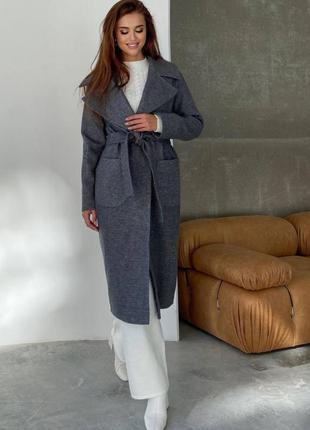 Трендовое демисезонное пальто женское осенее деми