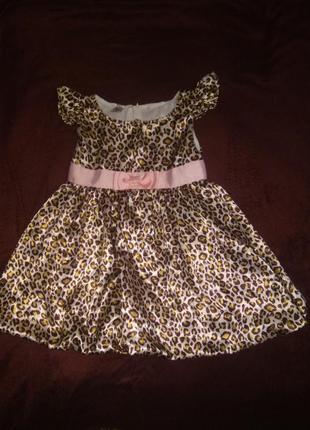 Платье леопардовое 2-4 года