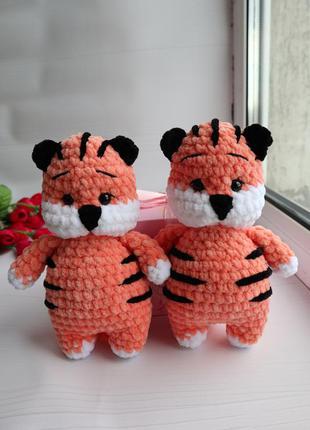 Тигр амигуруми вязаный тигрёнок ручная работа