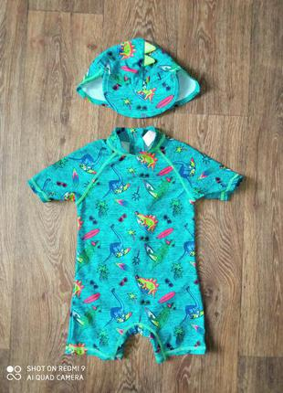 Детский цельный солнцезащитный купальный костюм для пляжа купальник для мальчика