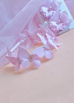 Повязка на день рождения веночек на голову повязочка на фотосессию украшения