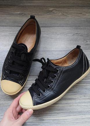 Кожаные кеды туфли мокасины р.37