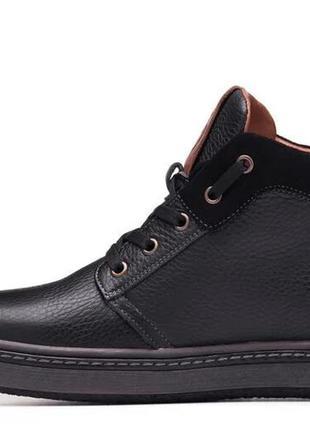 Мужские зимние кожаные ботинки flotar leather shoes