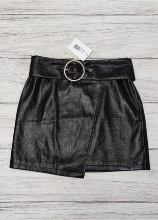 Эффектная стильная юбка на широком поясе лак evil twin label от asos