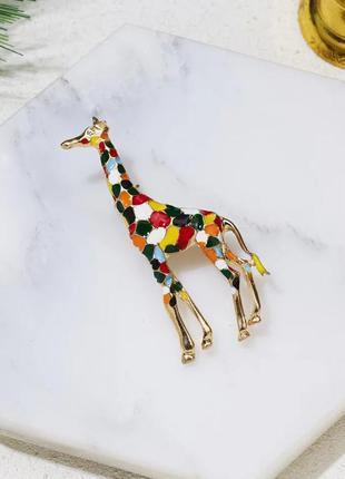 Яркая креативная брошь значок разноцветный жираф / большая распродажа!