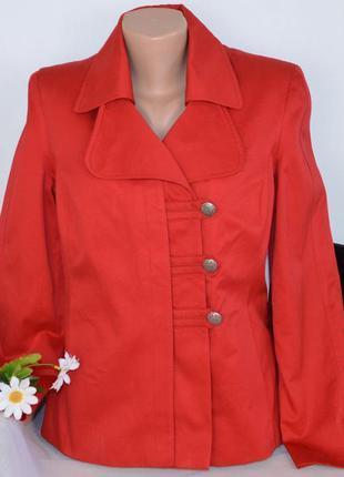 Брендовый красный плащ тренч куртка с карманами m&co турция коттон утеплитель этикетка