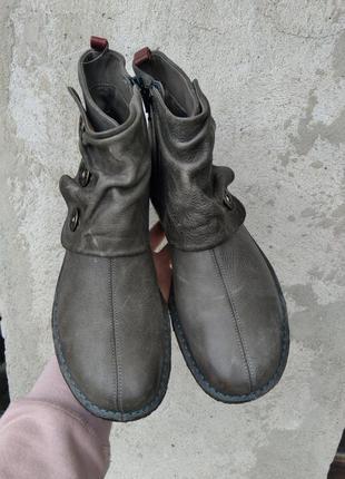 Р.39 ecco (оригинал) кожаные деми ботинки.