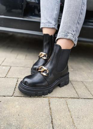Стильні черевики з цепочкою _ obuv