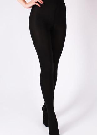 Колготы женские на флисе черные размер 40-42