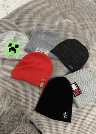 Стильные шапочки на модных ребят 52-54