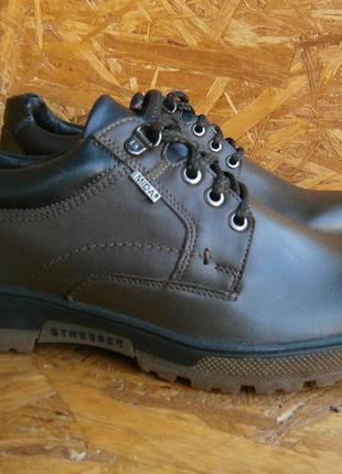 Туфли мужские коричневые осенние кожаные натуральная кожа mida