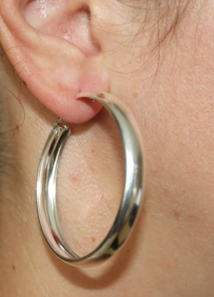 Новые серебряные серьги-конго 4см 5,8г