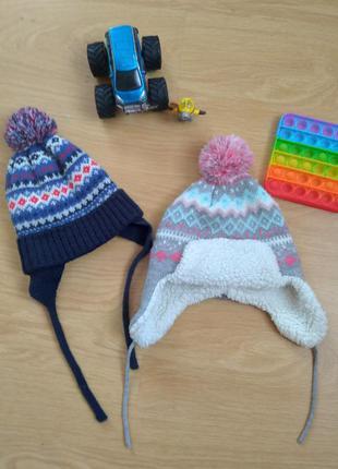 Теплые, зимние шапки для детей