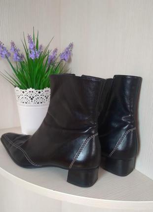 Сапожки paul green, кожа, квадратный каблук  и носок, 41 размер