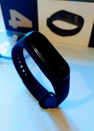 💥 220 грн + подарок фитнес браслет м4 mi band xiaomi смарт часы трекер