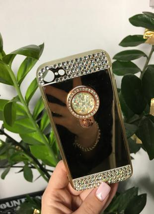 Зеркальный чехол кейс на айфон 7 iphone