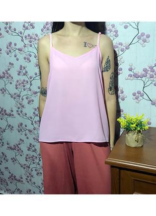 Нежная розовая майка под шифон р. xl 14 42 eur 50