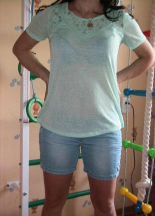 Фирменная футболка (можно носить в период беременности) м, л
