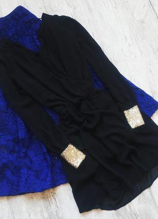 Сказочное шифоновое платье с манжетами в пайетках от asos 💔