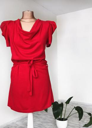 Червоне тепле плаття красное теплое платье м с m s
