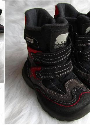 Зимние ботинки polaris из замша и ткани 3d34ce0e29456