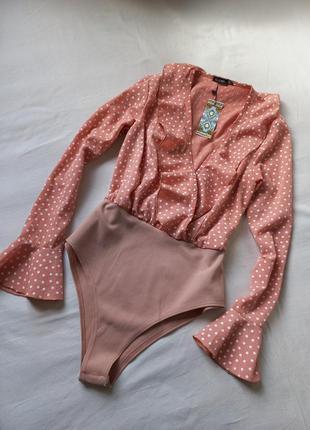 Boohoo оригинальная новая блузка боди м
