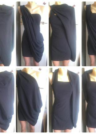 Маленькое черное платье-трансформер(коктейльное,вечернее)р.42-44