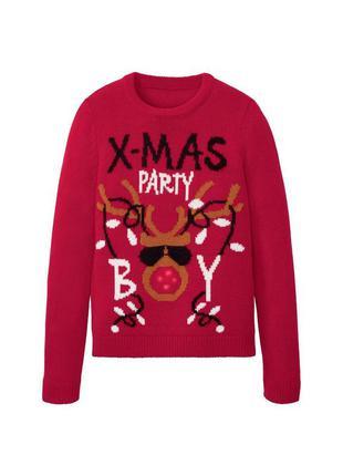 Рождественский новогодний свитер кофта новый год олень с огнями и мелодией подарок
