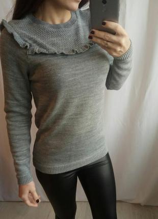 Cтильный свитер с рюшами dorothy perkins