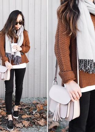 Свободный теплый свитер h&m