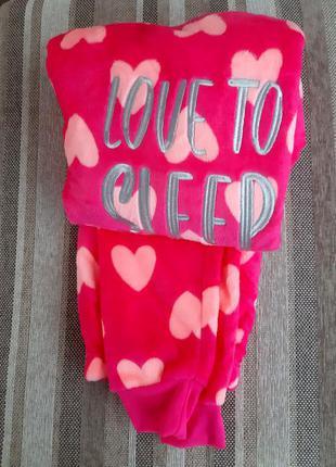 13-14лет пижама пушистый флис из англии