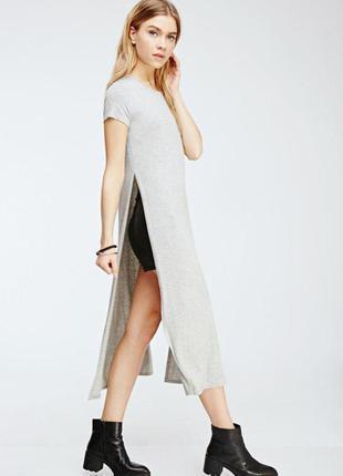 Длинная туника платье с разрезами по бокам 56 размера