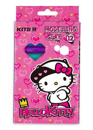Пластилін восковий, 12 кольорів, 200 г. hk.торговая марка: kite
