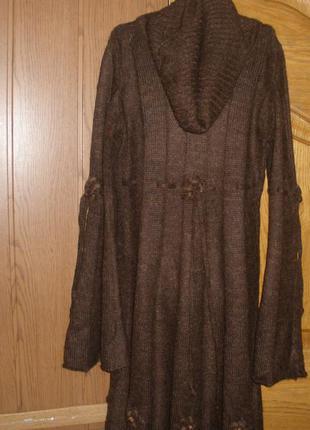 Теплое платье в составе шерсть