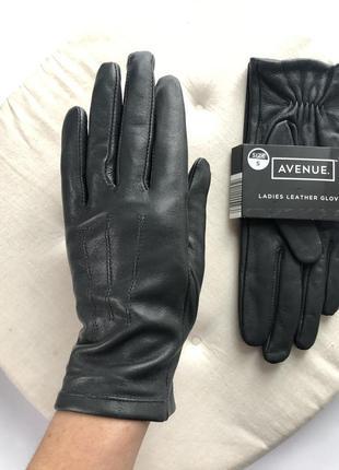 Новые кожаные перчатки 🖤avenue размер s