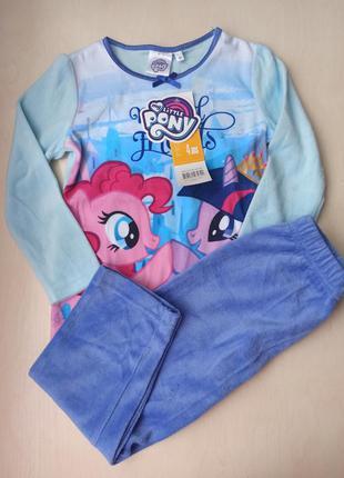 Піжама тепла my little pony, для дівчинки  на зріст 110 см.